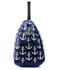 Navy Anchors Away Tennis Racket Bag