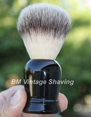 Shaving Brush with Synthetic Hair - Black Handle
