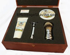 Merkur Barber Pole Complete Shaving Set