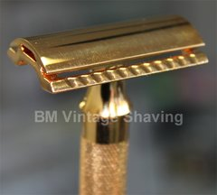 Merkur Heavy Classic Double Edge Safety Razor Gold Plated
