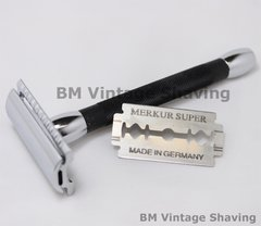 Merkur Double Edge Safety Razor Long handle Black