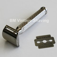 Merkur DE Nickel Plated Moustache/Corn Razor