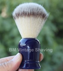 Shaving Brush with Synthetic Hair - Blue Handle