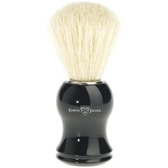 Edwin Jagger Shaving Brush, Pure bristle , Plastic handle, Ebony