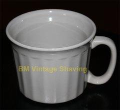 Ceramic Shave Mug - White