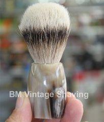 Dovo Silvertip Shaving Brush - Buffalo Horn Handle