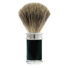 Edwin jagger Shaving Brush Pure Badger, Ebony Chrome