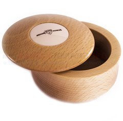 Edwin Jagger Beech Wood Shaving Soap Bowl, Imitation Ivory Insert