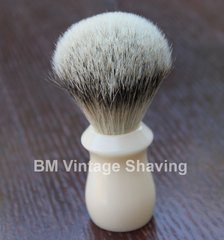 Shaving Brush Faux Ivory Silvertip