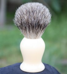 Faux Ivory Pure Badger Shaving Brush