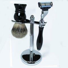 Shaving Set Mach3 Razor & Brush Ebony