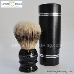 Edwin Jagger - Shaving Brush Imitation Ebony Medium - Super Badger
