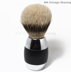 Merkur Silvertip Shaving Brush 2 Tone Handle