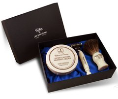 Taylor of Old Bond Street Shaving Set in Satin-lined Gift Box