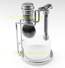 Merkur 4pc Barber Pole Shaving Set