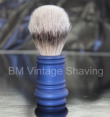 Merkur Barber Pole Shaving Brush  24mm Blue