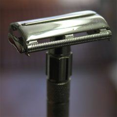 Long Handle Double Edge Safety Razor Chrome