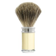 Edwin jagger Shaving Brush Pure Badger, Ivory, Chrome