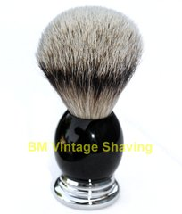 Ebony/Metal Silvertip Shaving Brush