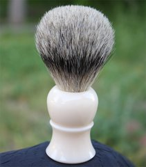 Faux Ivory Best Badger Shaving Brush