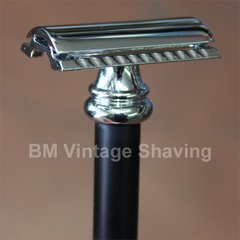 Merkur Barber Pole Double Edge Safety Razor 38C Alum Black