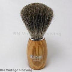 Dovo Shaving Brush - Pure Badger - Olive Wood Handle
