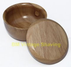 Beech Wood Shaving Bowl with Lid - Large