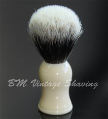 Shaving Brush Faux Ivory Finest Badger Hair