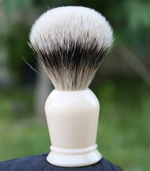 Faux Ivory Silvertip Badger Shaving Brush