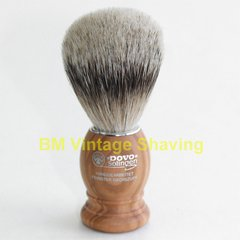 Dovo Silvertip Shaving Brush - Olivewood Handle