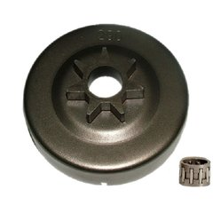 """>STIHL 029, 034, 036, 039, MS290, MS360, MS390 CLUTCH DRUM WITH BEARING AND 3/8"""" pitch, 7 tooth SPUR TYPE SPROCKET"""