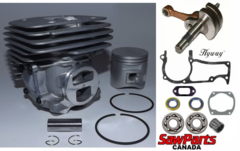 HUSQVARNA 365, 372 X-Torq, JONSERED 2172, 2166 OVERHAUL REBUILD KIT PREMIUM 50MM