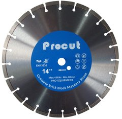 "SPC000304 - 14"" LASER WELDED DIAMOND SAW BLADE GENERAL USE 0835 090 7029"