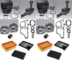 STIHL TS400 OVERHAUL REBUILD KIT STANDARD 49MM 2-PACK + BONUS AIR FILTER COMBO
