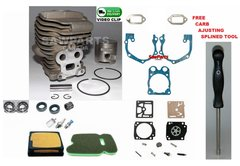 HUSQVARNA, Partner K750 CYLINDER KIT NIKASIL 51MM 3 Bearing-Seal-Filter-Gasket