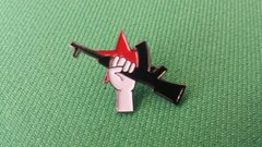 Rifle and Red Star Pin