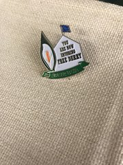 Free Derry Corner Badge with Easter Lily