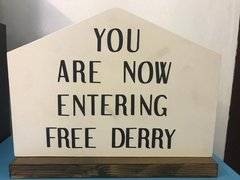 Free Derry Corner - Wooden