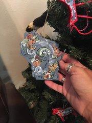 Wisconsin Rosemaled Ornament