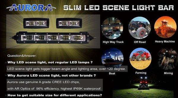 Aurora 50 inch 250 watt slim led scene light bar usa aurora led aurora 50 inch 250 watt slim led scene light bar mozeypictures Images