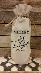 """Merry and Bright"" Wine Bag"
