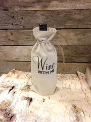 """Wine with Me"" Wine Bag"