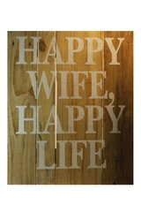 "Pallet Sign ""Happy Wife, Happy Life"""