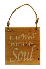 "Pallet Sign ""It is Wel With My Soul"