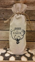 """Peace on Earth"" Wine Bag"