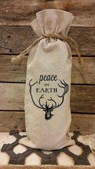 """""""Peace on Earth"""" Wine Bag"""