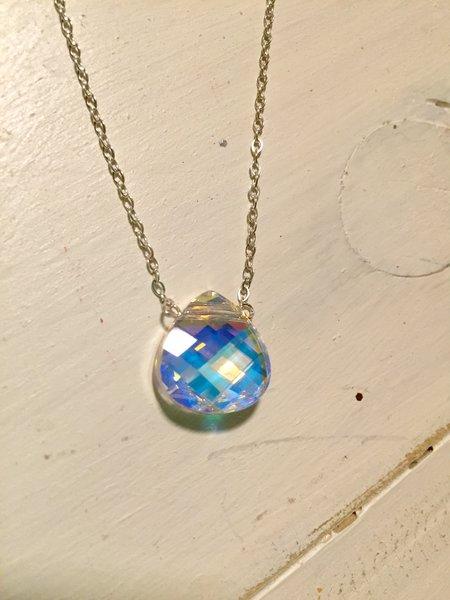 Crystal teardrop necklace bella beads studio crystal teardrop necklace aloadofball Image collections