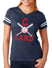 C Land Baseball Ladies V-neck