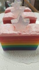 Dream rainbow and stars glycerin soap bar