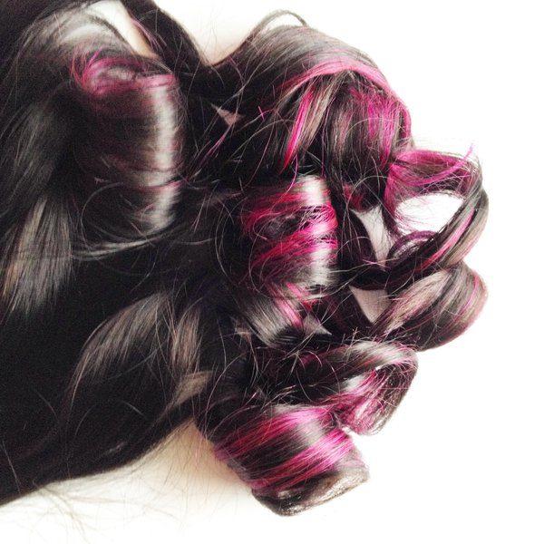 18 inch dark brown to balayage hot pink ends clip in 100 remy 18 inch dark brown to balayage hot pink ends clip in 100 remy human hair extensions set pmusecretfo Images